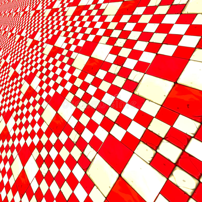 Download Distorted red checkers stock illustration. Illustration of geometry - 34438695