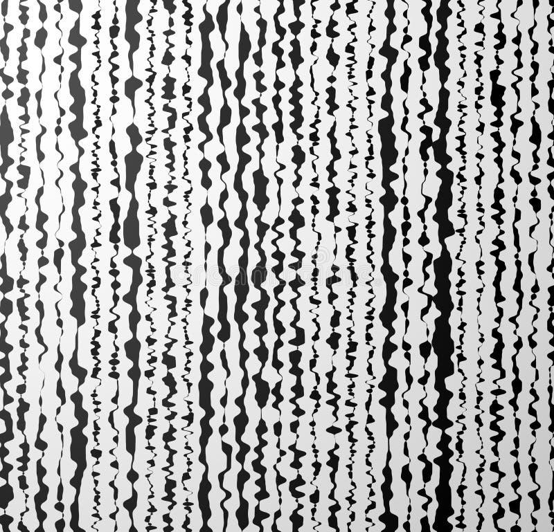 Distorted Vertical Shapes. Artistic Background vector illustration