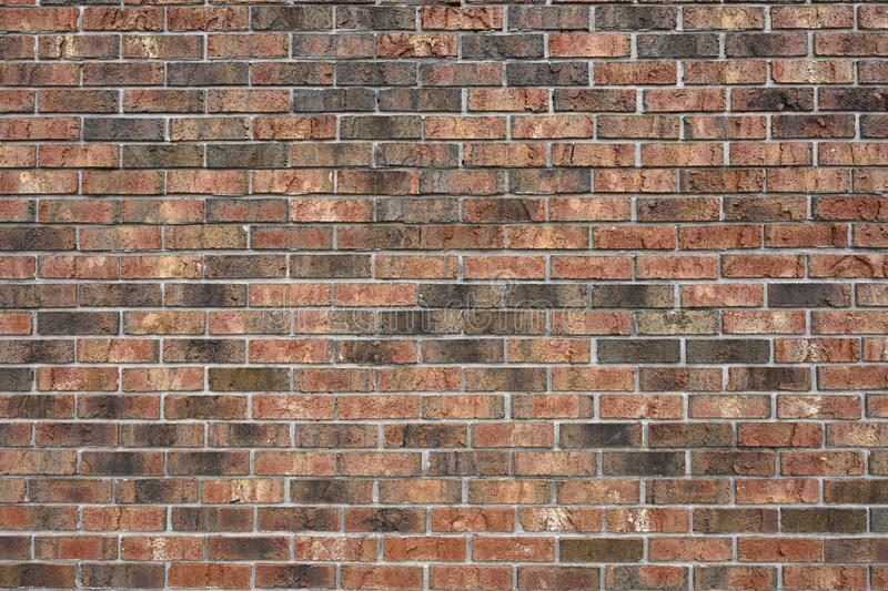 A distortion-free, varigated-color brick wall. A distortion-free, variegated-color brick wall with straight mortar lines. Great background stock photos