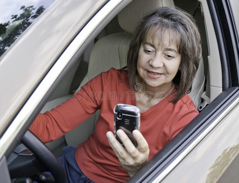 Download Distracted driver stock image. Image of reading, distracted - 16225469