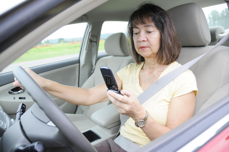 Distracted driving stock photos