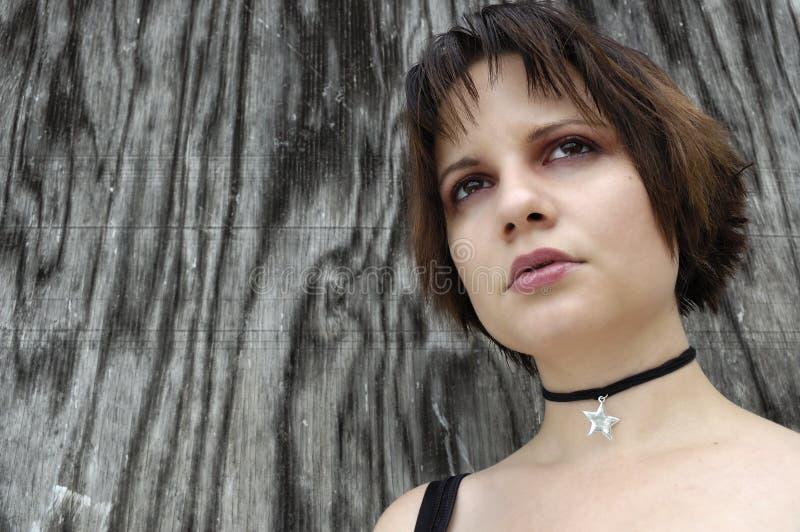 Distracted girl stock photo