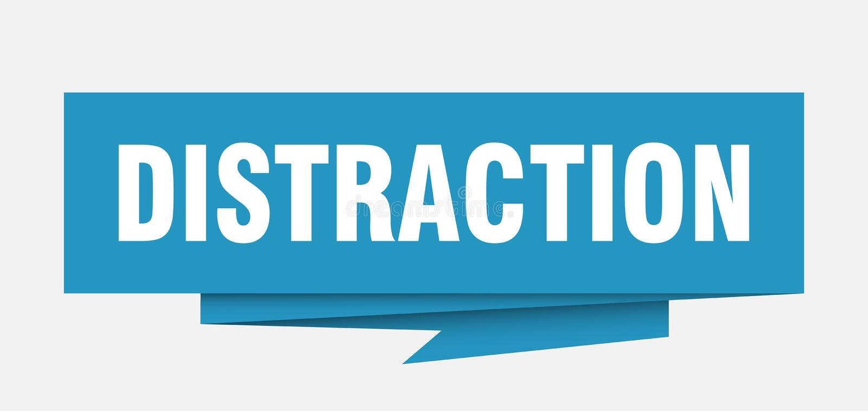 distraction ilustração stock