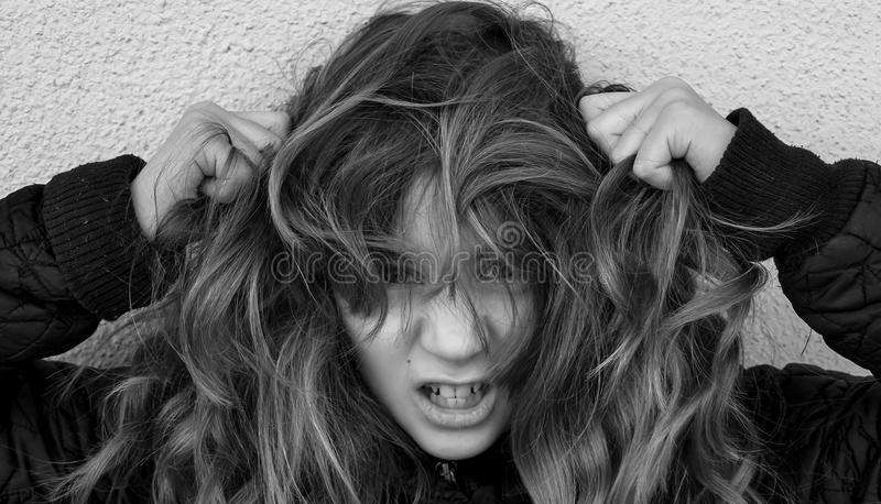 Distraught girl royalty free stock photo