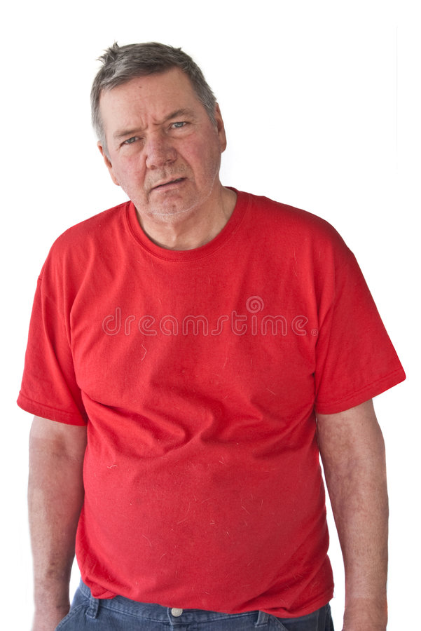 Distraught Mature Man