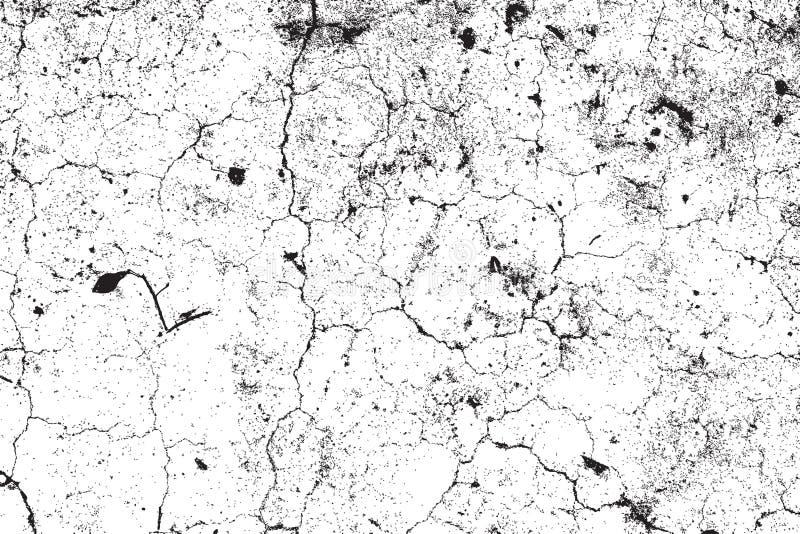 Distress Cracked Texture stock illustration