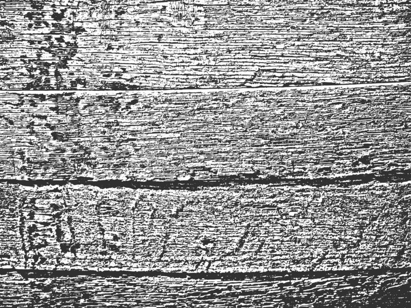 Distress old dry wooden texture. Black and white grunge background. Vector illustration. Distress old dry wooden texture. Black and white grunge background. EPS8 royalty free illustration