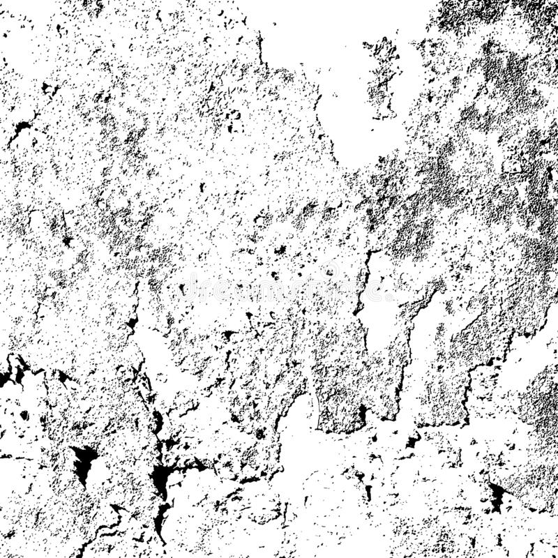 Distress Overlay Texture. Distress urban used texture. Grunge rough dirty background. Brushed black paint cover. Overlay aged grainy messy template. Renovate stock illustration