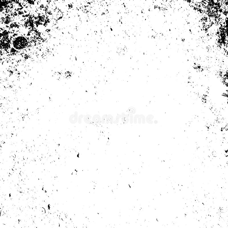 Distress Overlay Texture. Distressed grainy overlay texture. Grunge dark corner messy background. Dirty paper empty cover template. Ink stroke brushed square vector illustration