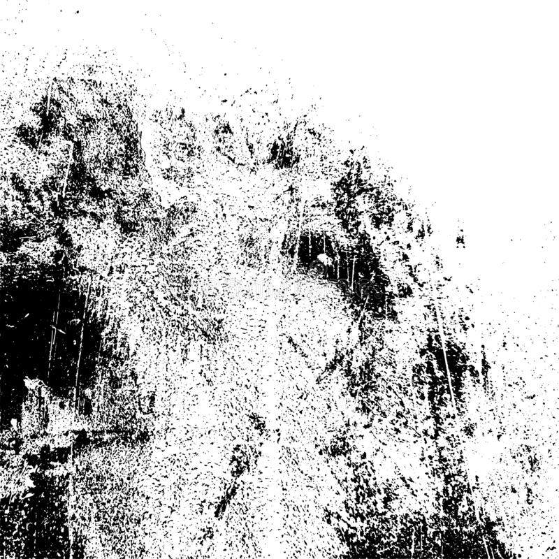 Distress Overlay Texture. Distressed spray grainy overlay texture. Grunge dust messy background. Dirty powder rough empty cover template. Aged splatter crumb royalty free illustration