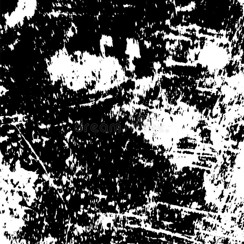 Distress Overlay Texture. Grunge rough dirty background. Overlay aged grainy messy template. Distress urban used texture. Brushed black paint cover. Renovate royalty free illustration