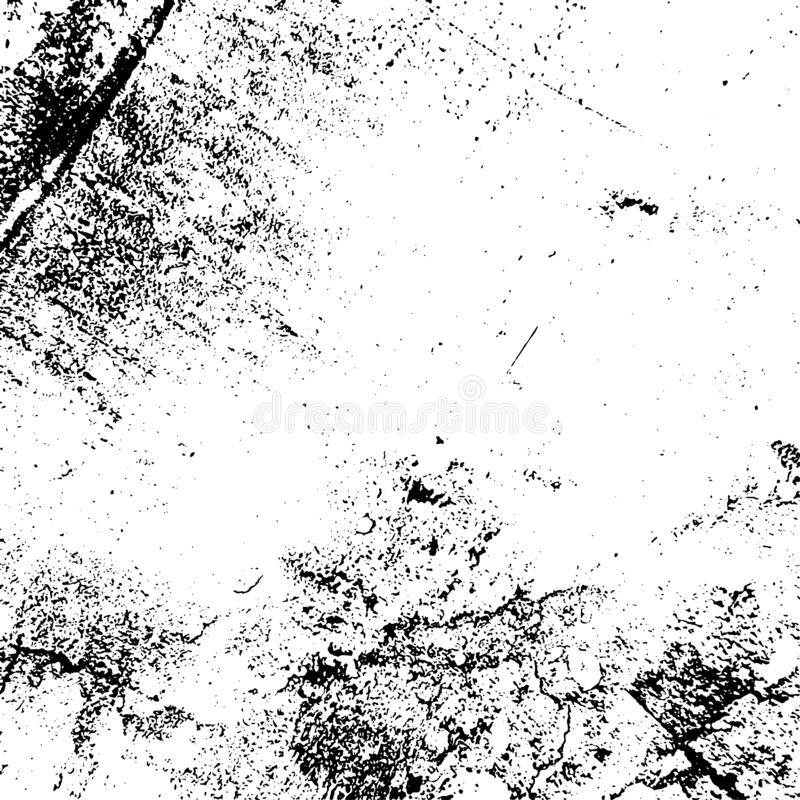Distress Overlay Texture. Grunge rough dirty background. Distress urban used texture. Brushed black paint cover. Overlay aged grainy messy template. Renovate vector illustration