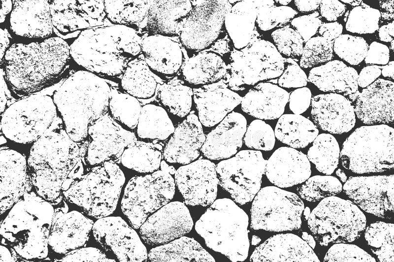 Distress sea or ocean coast beach stones, pebbles texture. EPS8 vector stock illustration