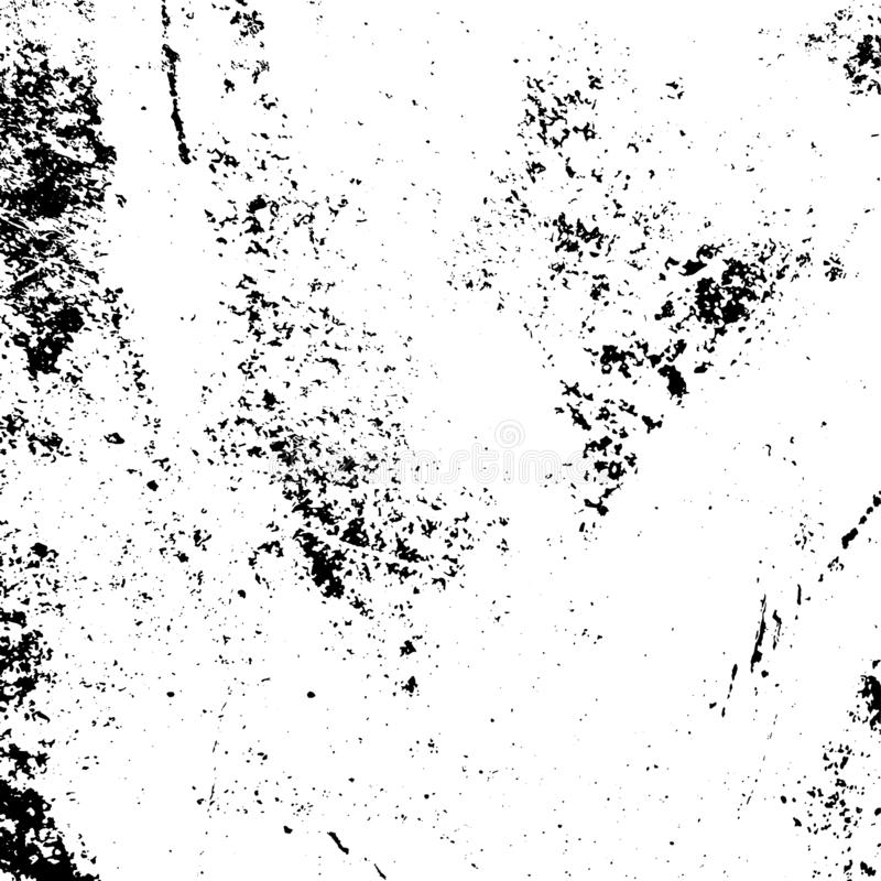 Distress Grunge Texture. Distress urban used texture. Grunge rough dirty background. Brushed black paint cover. Overlay aged grainy messy template. Renovate wall stock illustration