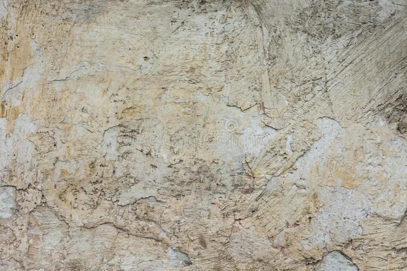 Distressed Abrasive Scratched Chipped Plastered White Grey Wall Background with Grungy Ragged Texture. Cracked Stained Cement. Or Stone Surface. Backdrop royalty free stock images