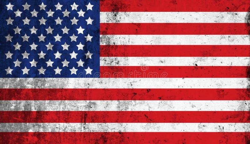 Distressed American national flag. United States Flag. vector illustration