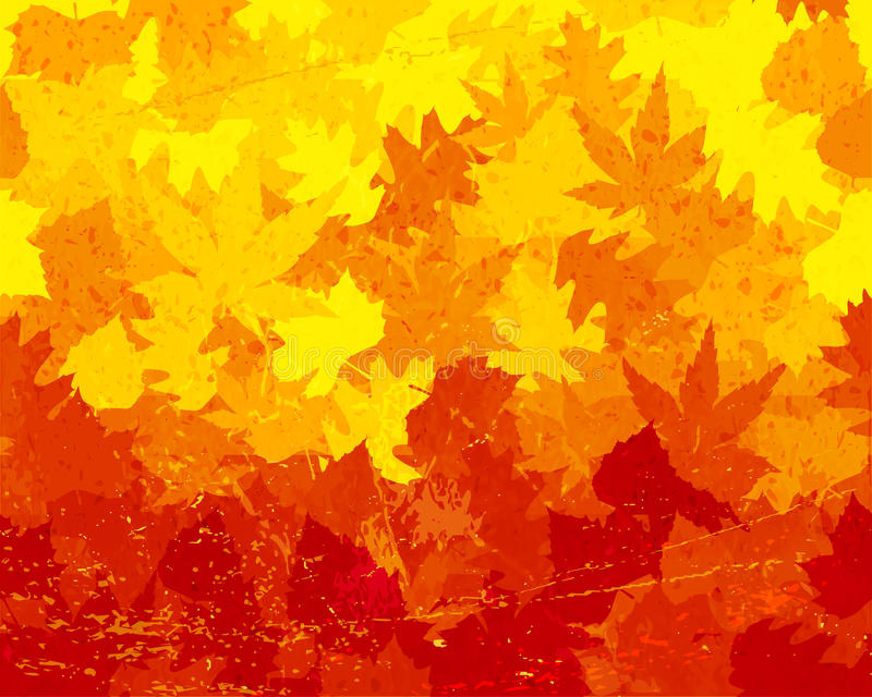 Distressed autumn leaves wallpaper royalty free illustration