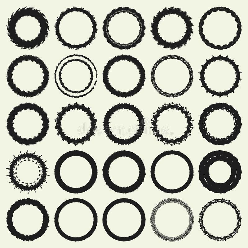 Circle Frame Set vector illustration