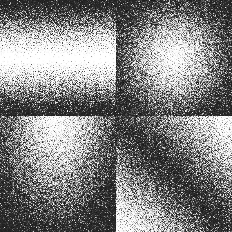 Distressed, dirty dust, grunge noise vector textures set. Grunge grainy distressed, illustration of texture grain noise vector illustration