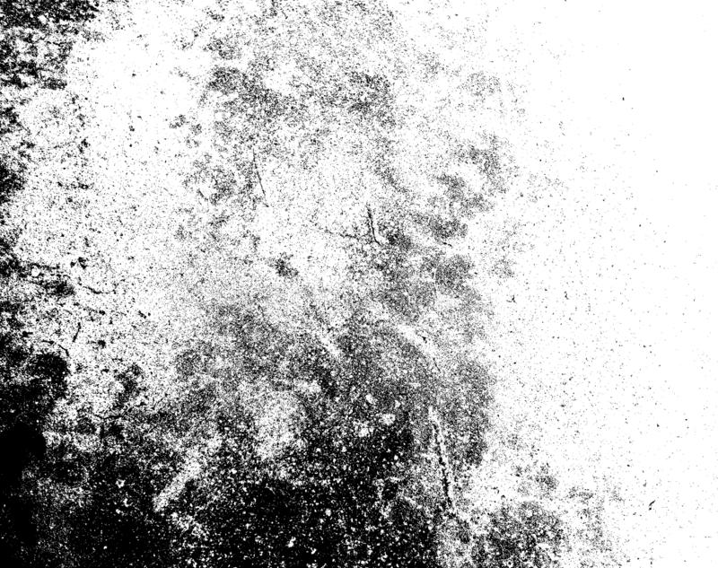 Distressed halftone grunge black and white vector texture of concrete floor background for creation abstract. stock illustration