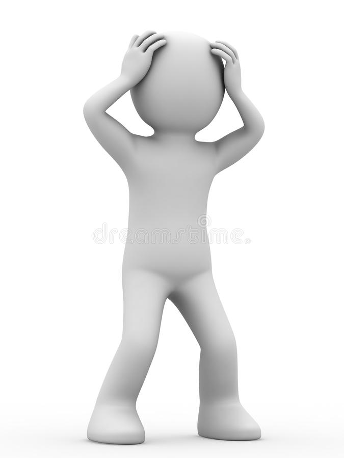 Download Distressed personage. stock illustration. Illustration of cartoon - 9428430