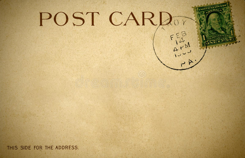 A distressed retro postcard from 1900s