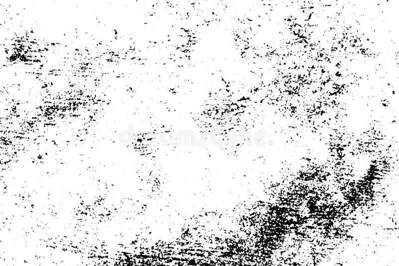 Distressed and rough concrete floor texture. Rustic texture with grain and noise. Weathered asphalt surface. Black and white grit trace. Obsolete vintage stock illustration