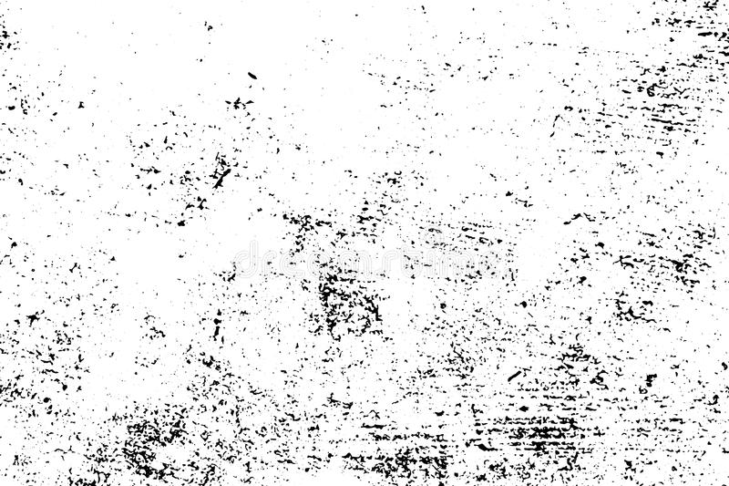 Distressed and rough concrete floor texture. Rustic texture with grain and stains. Weathered asphalt surface. Black and white grit trace. Obsolete vintage vector illustration