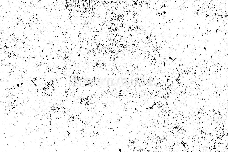 Distressed and rough concrete floor texture. Subtle texture with grain and stains. Weathered asphalt surface. Black and white grit trace. Obsolete vintage royalty free illustration