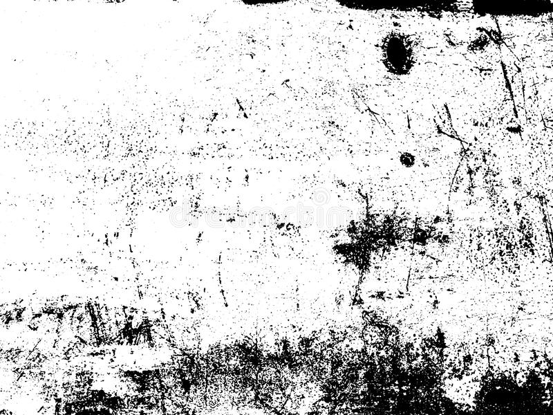 Distressed texture overlay. Vector background. Distressed texture overlay. Aged peeling paint texture. Dirty wall texture. Abstract grunge white and black royalty free illustration