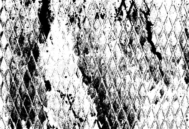 Distressed texture overlay. Vector background. Distressed texture overlay. Aged peeling paint texture. Dirty wall texture. Abstract grunge white and black stock illustration