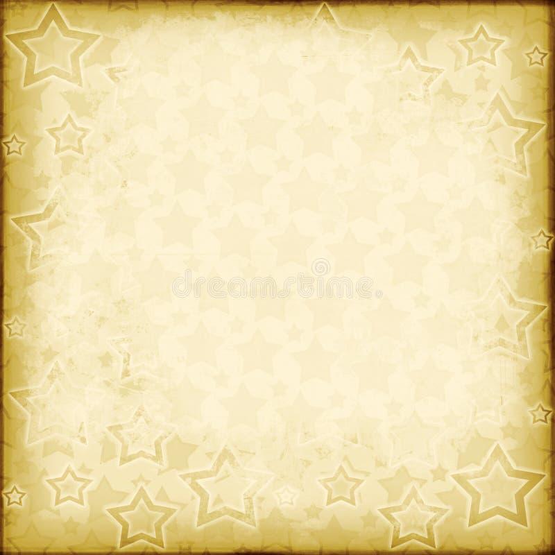 Distressed vintage stars. Grungy/shabby patriotic/christmas background stock illustration