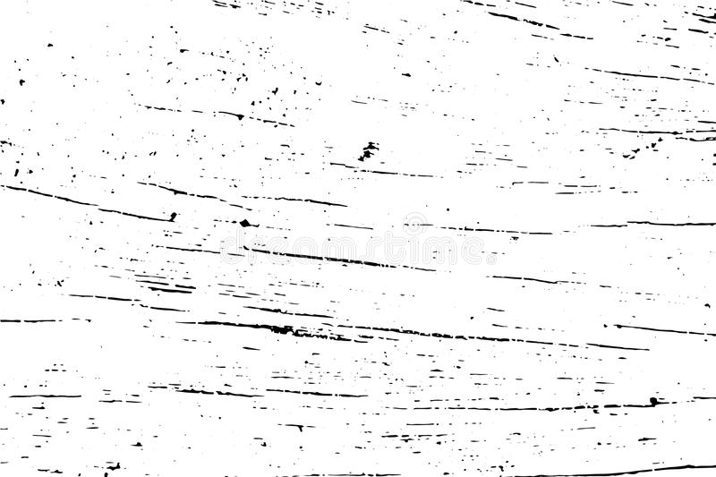 Distressed wood surface texture. Aged wooden surface. Black texture on transparent overlay. royalty free illustration