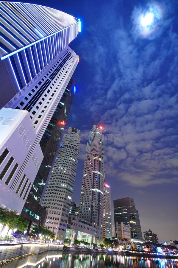 Distretto aziendale concentrare di Singapore immagini stock