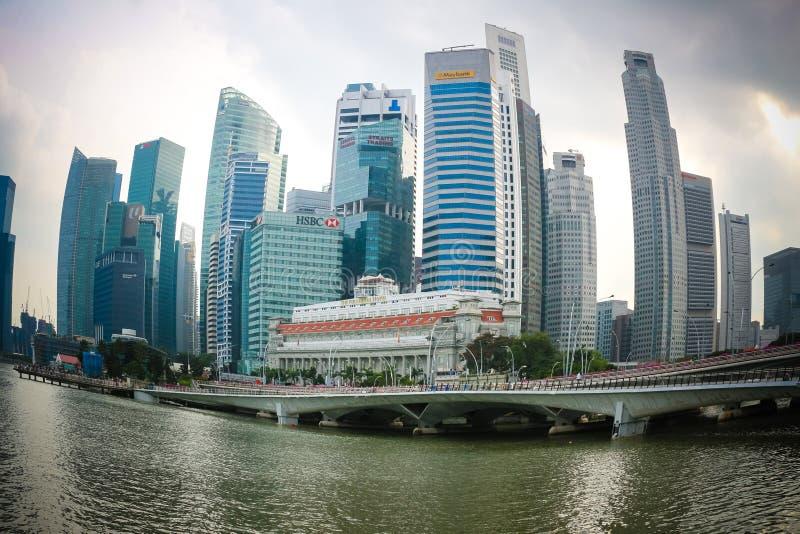 Distretto aziendale di Singapore s immagine stock libera da diritti