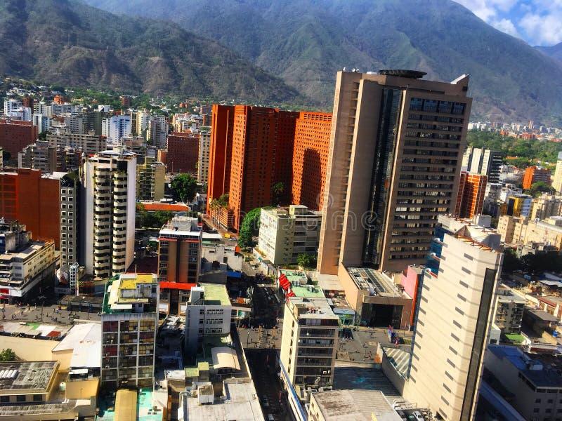 Distretto aziendale grande di Sabana Caracas Venezuela fotografie stock libere da diritti