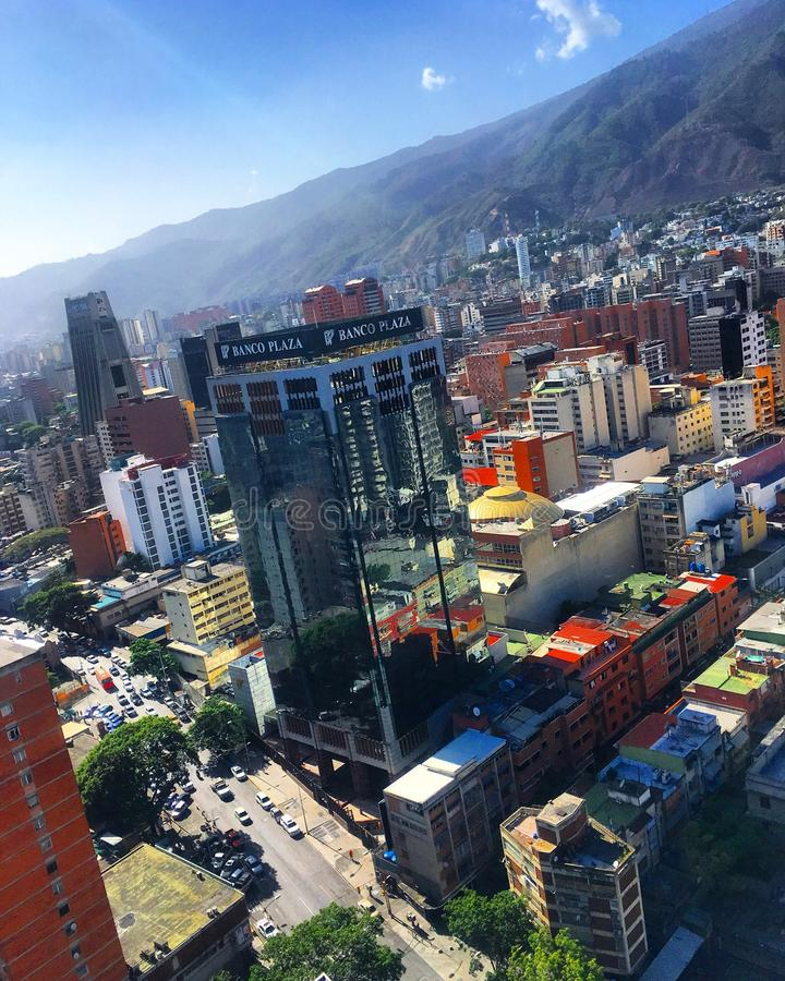 Distretto aziendale grande di Sabana Caracas Venezuela fotografie stock