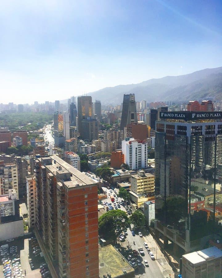 Distretto aziendale grande di Sabana Caracas Venezuela fotografia stock libera da diritti