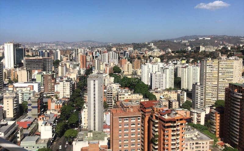 Distretto aziendale grande di Sabana Caracas Venezuela immagine stock libera da diritti