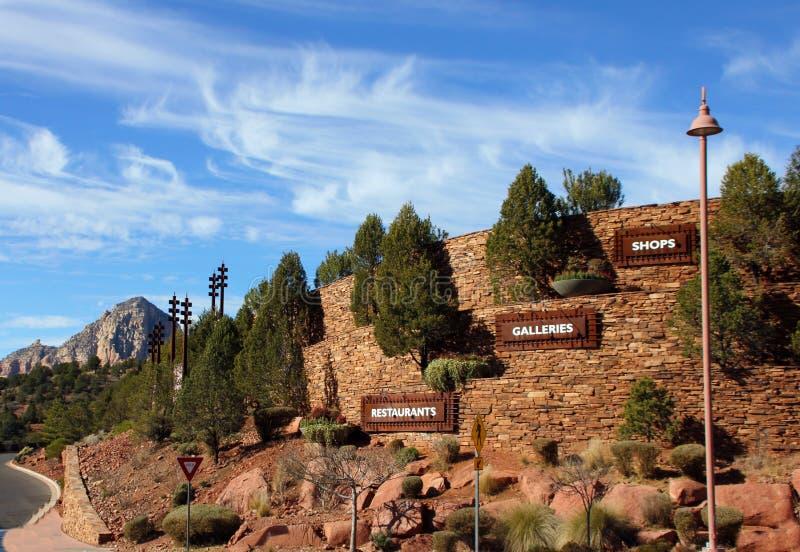 Distretto commerciale, Sedona, Arizona fotografia stock