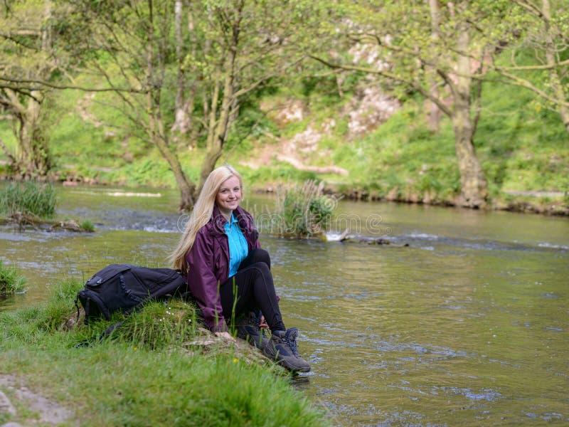 Distretto del picco del fiume di byu della giovane donna fotografie stock