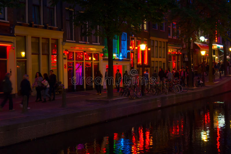 Distretto della luce rossa a Amsterdam fotografia stock libera da diritti