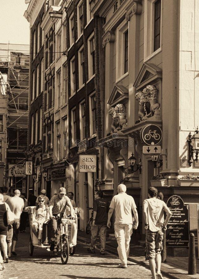Distretto della luce rossa di Amsterdam fotografia stock