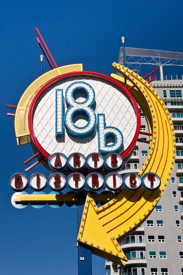Distretto di arti di Las Vegas fotografia stock