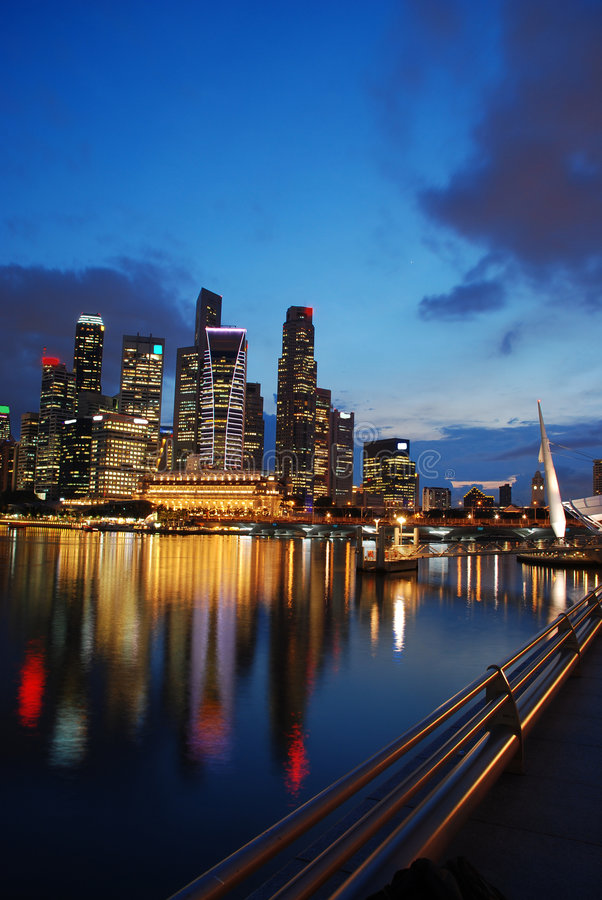 Distretto di buisiness di Singapore fotografia stock libera da diritti