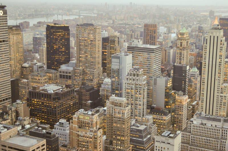 Distretto di Manhatann, grattacieli di New York immagine stock libera da diritti