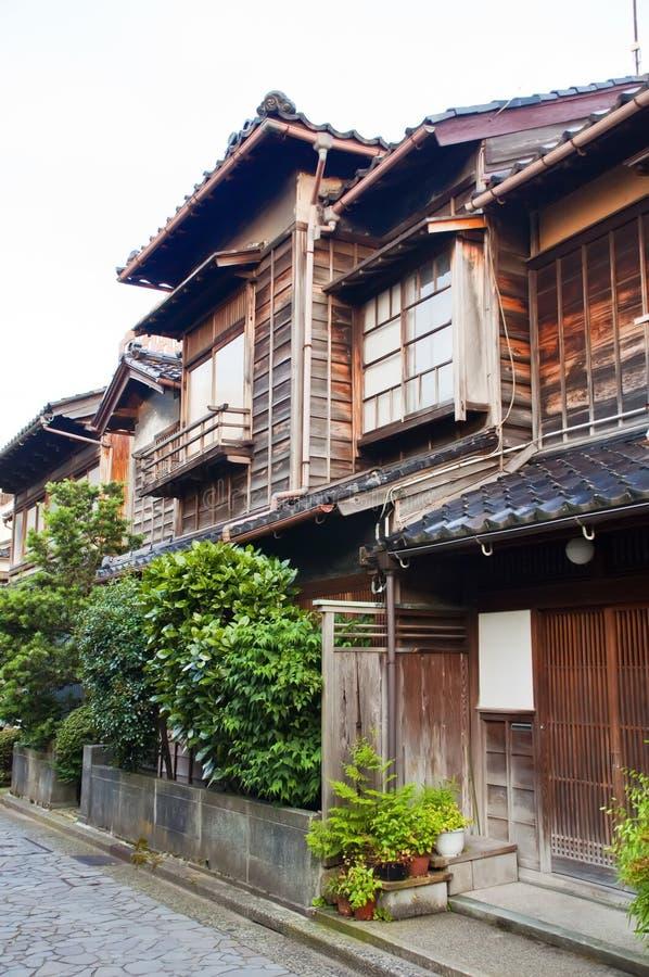 Distretto di Nagamachi a Kanazawa, Giappone fotografia stock libera da diritti
