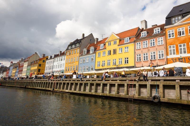 Distretto di Nyhavn a Copenhaghen fotografia stock libera da diritti