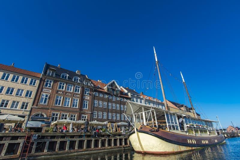 Distretto di Nyhavn a Copenhaghen, Danimarca fotografia stock