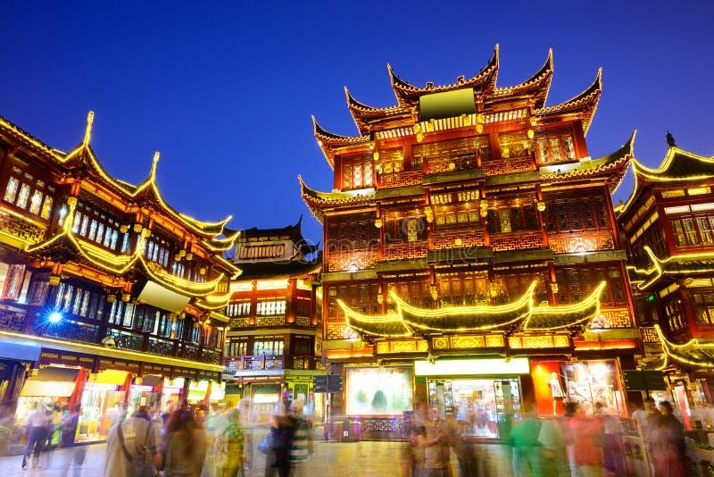 Distretto di Yuyuan di Shanghai Cina fotografia stock libera da diritti